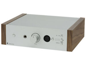 PRO-JECT-HEAD-BOX-DS2-B-AMPLIFICATORE-PER-CUFFIA-SILVER-WALNUT-NUOVO-GARANZIA-IT