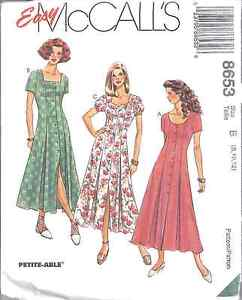 8653-UNCUT-McCalls-Pattern-Misses-Dress-SEWING-OOP-SEW-Vintage-FF-EASY-Casual