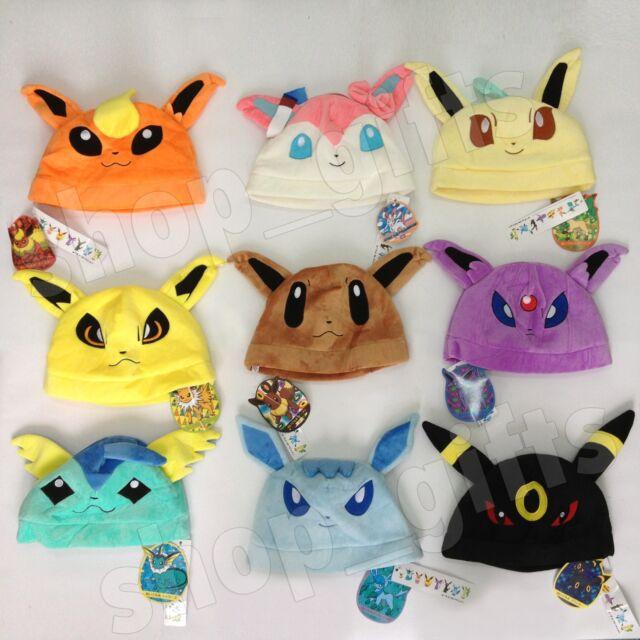 9X Pokemon Eevee Vaporeon Sylveon Umbreon Espeon Jolteon Glaceon Plush Hat Toy