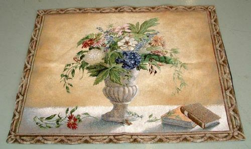 26x32 REFLECTIONS I Rose Floral Urn Tapestry Wall Hanging