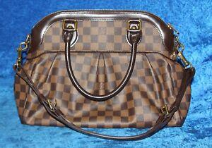 2cae23e853b3 Women s Louis Vuitton Trevi PM Brown Damier Canvas Satchel