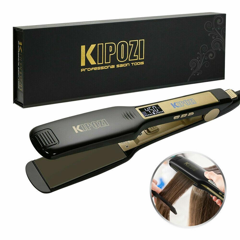 KIPOZI Plancha de pelo para salón Plancha plana LCD digital de 1,75...