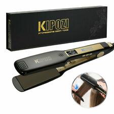KIPOZI Plancha de pelo para salón Plancha plana LCD digital de 1,75 pulgadas de