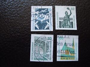 Germany-Rfa-Stamp-Yvert-and-Tellier-N-1383-A-1386-Obl-A3-Stamp-Germany