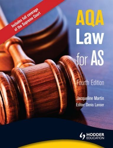 AQA Law for AS By Jacqueline Martin, Denis Lanser