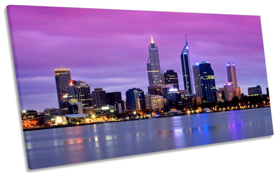 Cérémonie Cérémonie Cérémonie de mariage sur le traîneau, cérémonie d'amitié du père Noël. Perth city skyline australie panoramique toile wall art box frame 763055