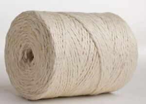 Details about 50M White Jute Twine Roll DIY Wrap Gift Hemp Rope Cord String  Roll