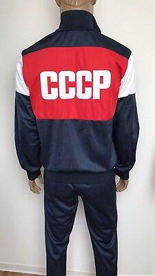 Adattabile Adidas Tuta Rar Rarità Sport Suit Russia Cccp Ussr, Blu Scuro M, L, Xl, Xxl, 3xl-