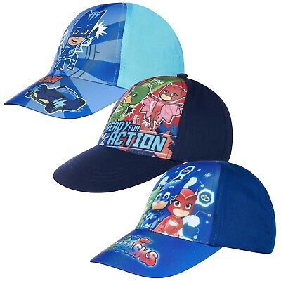 Pj Masks Boys Baseball Cap Summer Sun Hat Hats 2-10 Years 52 54 cm