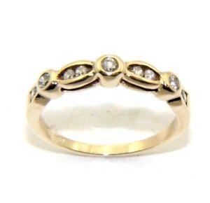 Ladies-womens-9ct-9carat-yellow-gold-diamond-ring-uk-size-N-1-2