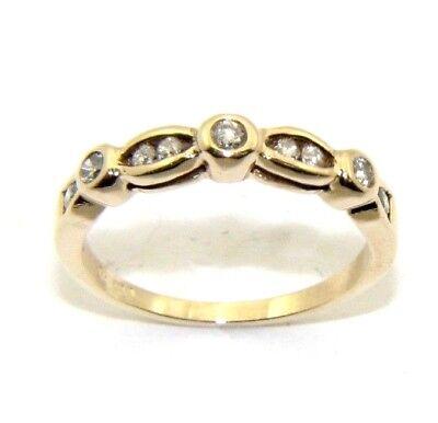 Ladies Womens 9ct 9carat Yellow Gold Diamond Ring Uk Size N 1 2 Ebay