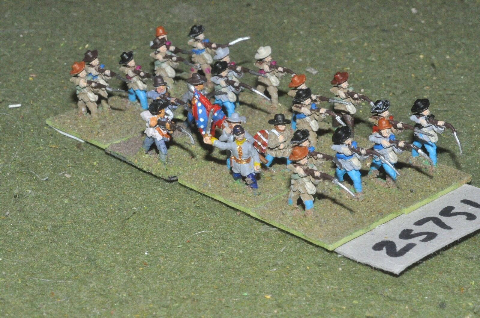 15mm ACW   confederate - regt. 24 figures - inf (25751)