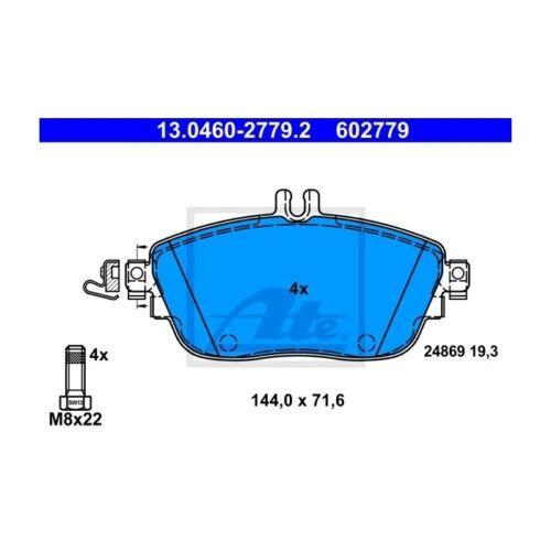 ATE 13.0460-2779.2 Bremsbelagsatz Scheibenbremse  Links für Mercedes-Benz