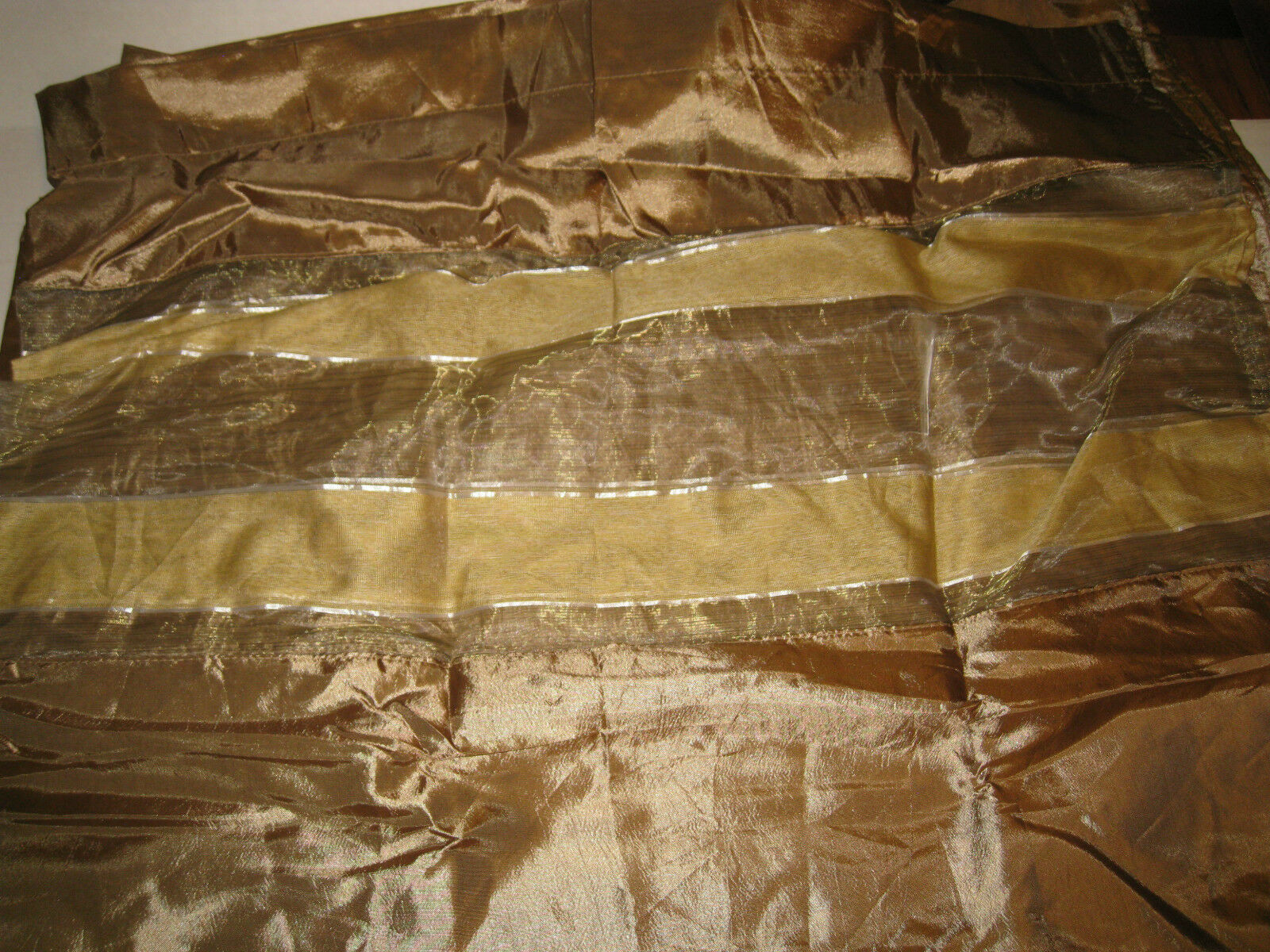 Vienna Grommet Panels with Sheer Sections Gold 55x84 Lot of of of 2 NEW 899ee0