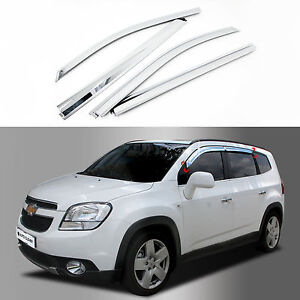 Chrome Sun Shade Rain Guard Door Window Vent Visor for 12+ Chevrolet ... d4154b01d67d