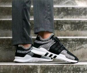 Details about Adidas men's EQT Support ADV PK Black/White Primeknit Shoes BY9390 size US 11.5