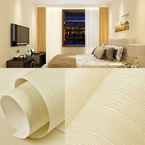 Details about 10m Modern Simple Lines Non-woven Wallpaper TV Background  Living Room Bedroom 3D
