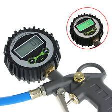 Auto Car Vehicle Bike Air Compressor Tire Tyre Inflator Pressure Gauge Gun