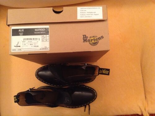 Neri anfibi Boots Dr Black Suola Gialla zip Noir Martens 1460 Smooth Cucitura wSXqXT08f