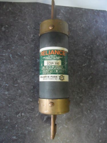 Nice Reliance ECSR 300 Amp Time Delay Current Limiting Fuse Class RK5 600 V