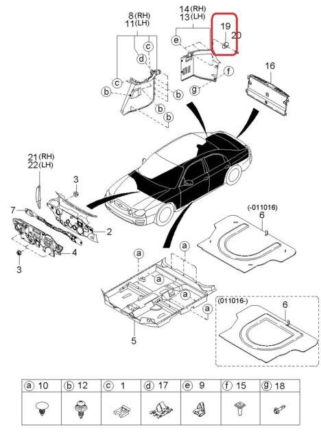 2005 Kia Rio Parts Diagram