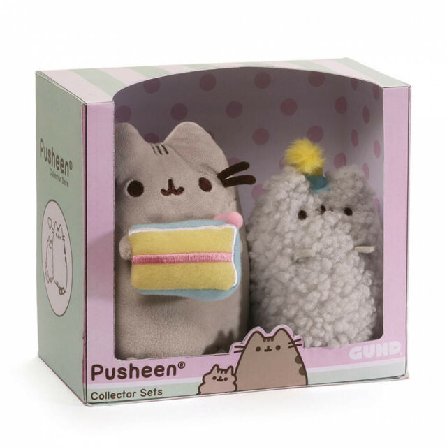 PUSHEEN THE CAT Birthday Collectable Set with Stormy. Authentic New. Cute Gift