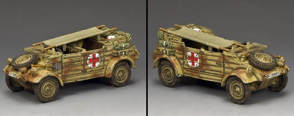 KING AND COUNTRY German The  Afrika Korps  Kubelwagen Ambulance WW2 WH094