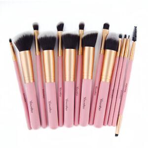 14Pcs Pro Makeup Brushes Set Kabuki Foundation Powder Eyeliner Eyeshadow Brushes