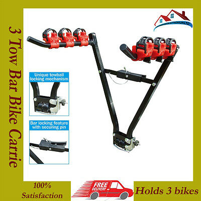 Initiative H-duty 3 Bike Rear Tow Bar Mount Cycle Bicycle Carrier Car Rack Tow Bar Tow Ball