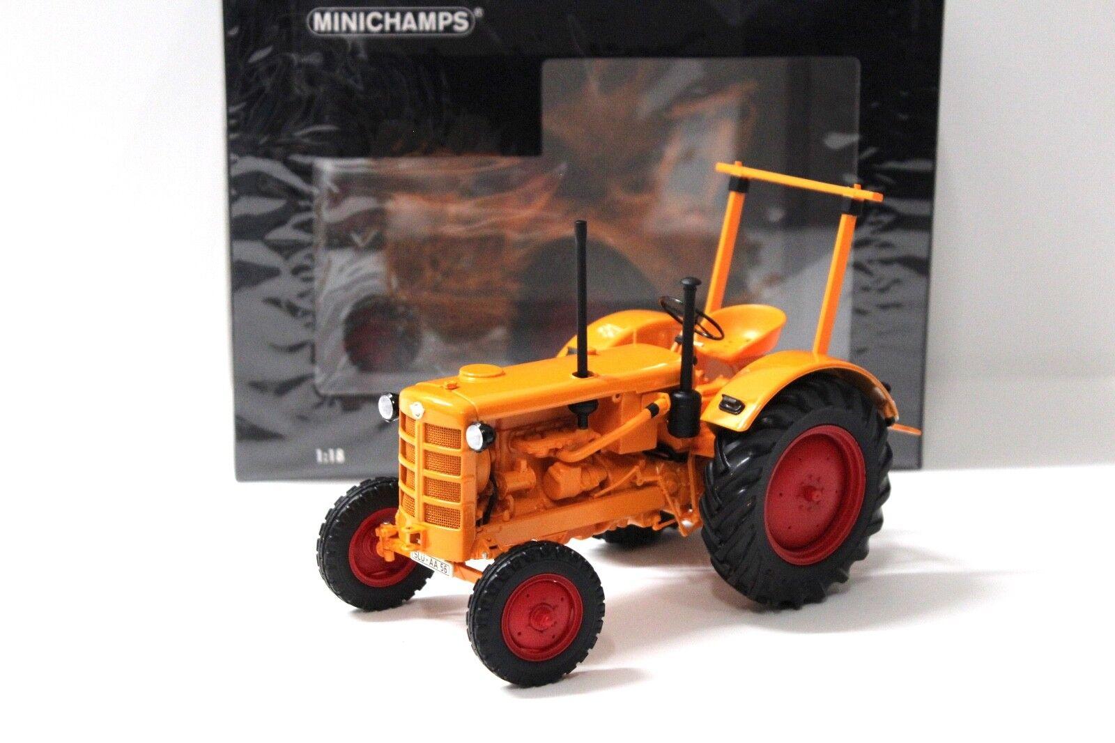 18 minichamps hanomag r28 traktor 1953 Orange neue bei premium-modelcars