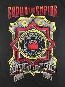 Crown-the-Empire-2013-Dallas-Texas-T-Shirt-XL-Black-Metalcore-Music