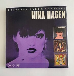 NINA-HAGEN-Original-Album-Classics-3-CD-Box-Set-Nunsexmonkrock-Fearless-Band
