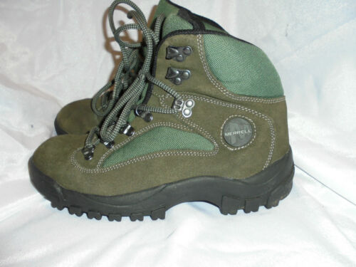 5 Size Leather 4 Green textile Uk Women's Boots Us Up Merrell Vgc Lace 37 Eu 0EqOpxZ