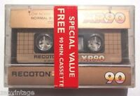 Vintage Sealed Recoton Gold Series Rx90 Cassette Tape