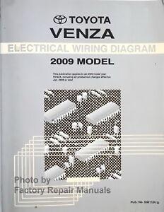 2009 Toyota Venza Electrical Wiring Diagrams Original ...