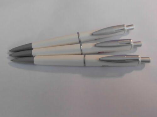 ARISTO Modell 150 Kugelschreiber weiß (3 Stück) mit Werbung Länge 15 cm !!!!