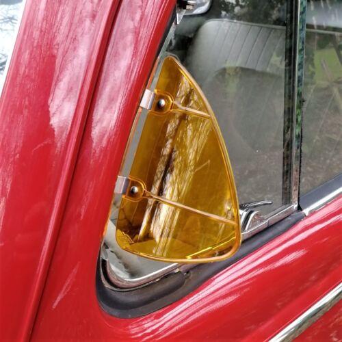 Breezies Wind Deflectors for classic car vw mini jaguar beetle AMBER AAC252A