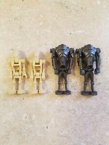 4 x Lego System Arm Figur Droide metallic silber Star Wars Battle Kampf Droid ab