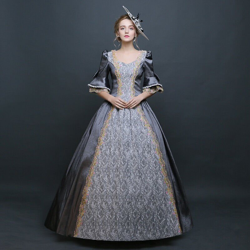 Femme Victorienne Robe de bal theare Cosplay Lacets Robe Palais Costumes F