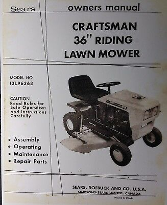 Sears Craftsman 36 Riding Lawn Mower, Sears Craftsman Riding Lawn Mower Wiring Diagram