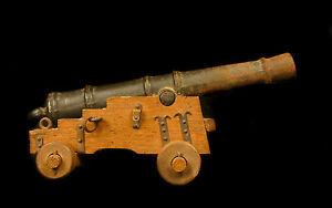 """Aimable Joli Canon Miniature """"akers 1780"""" Sweden Cannon 17 Cm 391 G Modèl Réduit Suède"""