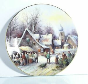 Collection-Plate-Tirschenreuth-Christmas-Market-on-The-Rank-Certificate-Boxed