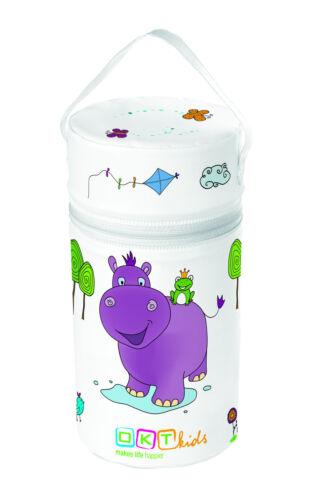 Funda Térmica XXL Hipopótamo Blanco Biberón Calientabiberones Bolso Aislante