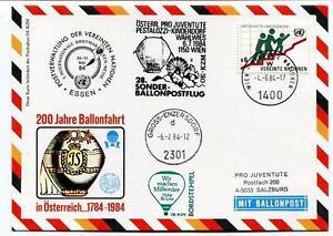 1984 Sonder Ballonpost N. 28 Pro Juventute Aerostato Oe-kzm Pestalozzi Onu Wien Ventes Bon Marché