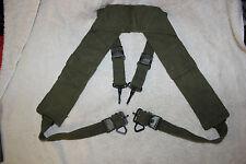 US Military Issue Vietnam Era US Army USMC H Suspenders Canvas Combat Suspenders