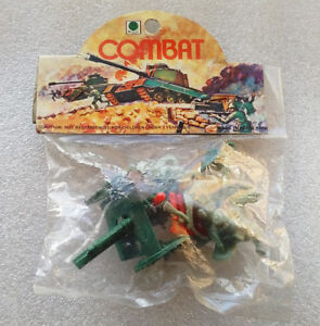 Vintage-Plastic-Soldiers-AUSTRALIA-SOLDIERS-amp-CANNON-Ri-Toys-Hong-Kong