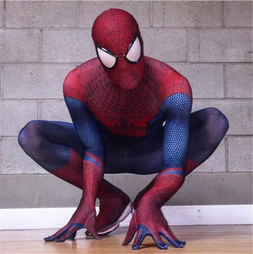 Homecoming Zentai Halloween Fancy Ball Tight Cosplay Costume Movie Spider-Man