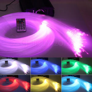 Details about DMX RGB 45W LED Fiber Optic Star Light Ceiling Kit with 28key  Remote 400 Strands
