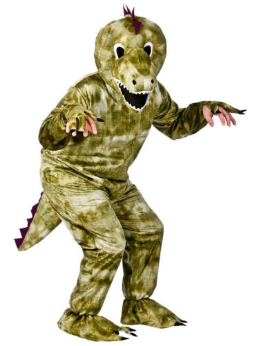 New Adult Dinosaur Dino T-Rex Deluxe Animal Mascot Big Head Fancy Dress Costume