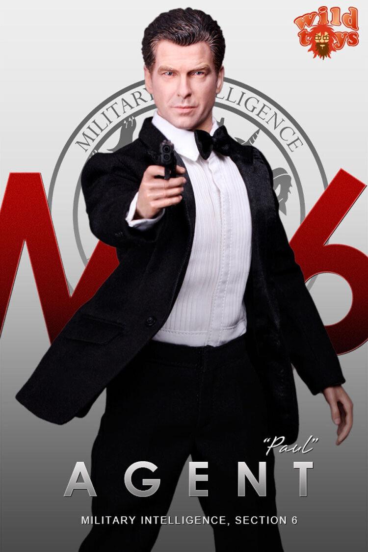 1 6 Agent James Bond MI6 Pierce Brosnan Paul Full Set Action Figure 12'' Toy New